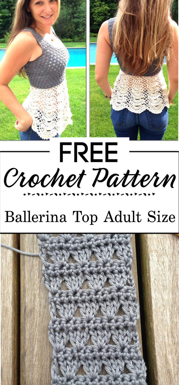 1. Ballerina Top Adult size Free Pattern