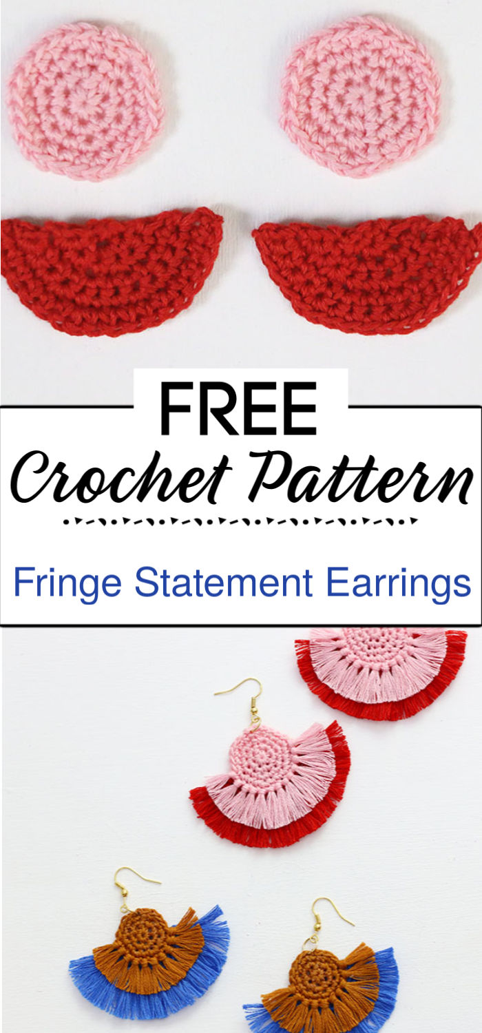 1. Crochet Fringe Statement Earrings