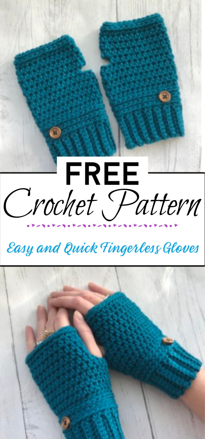 1. Easy and Quick Fingerless Gloves