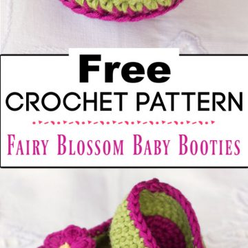 1. Fairy Blossom Baby Booties Crochet Pattern