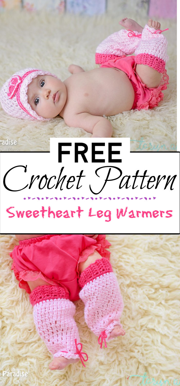 1. Free Crochet Pattern Sweetheart Leg Warmers