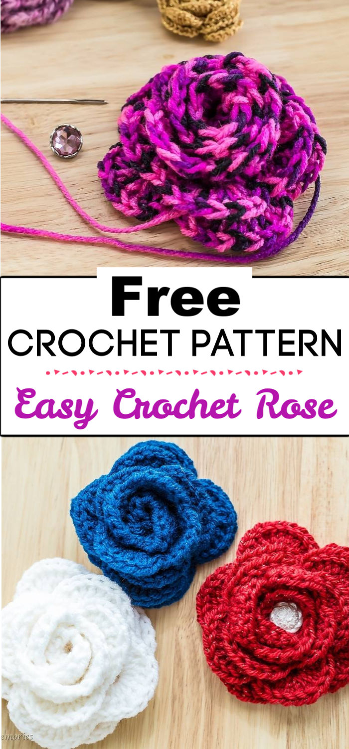 1. Free Easy Crochet Rose Pattern And Video Tutorial 2