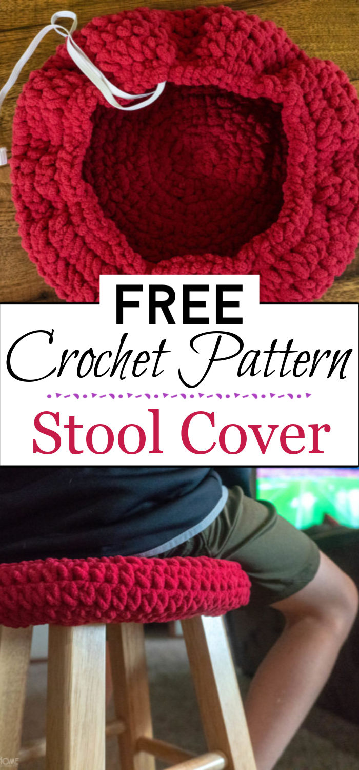 1. Stool Cover Crochet Pattern