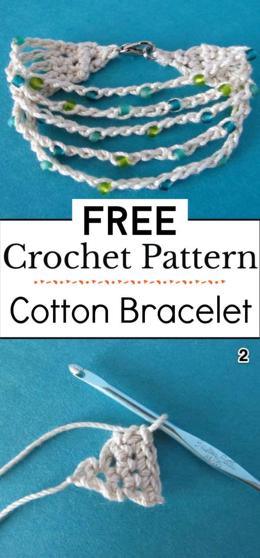 1.Cotton Crocheted Bracelet