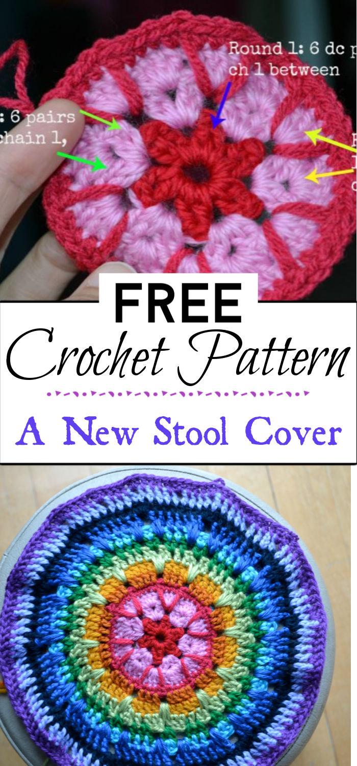 2. A New Crochet Stool Cover