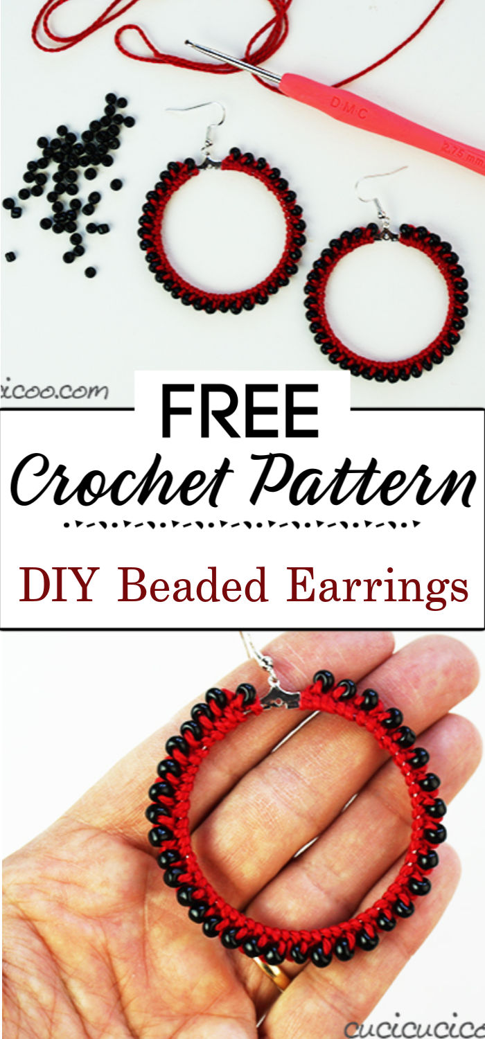 2. DIY Beaded Crochet Earrings