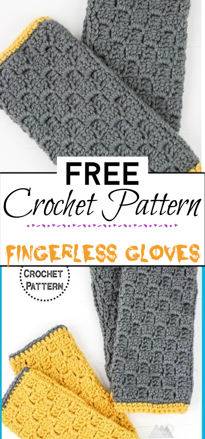 2. Fingerless Gloves Crochet Pattern