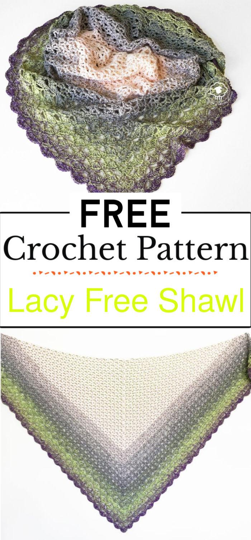2. Lacy Free Shawl