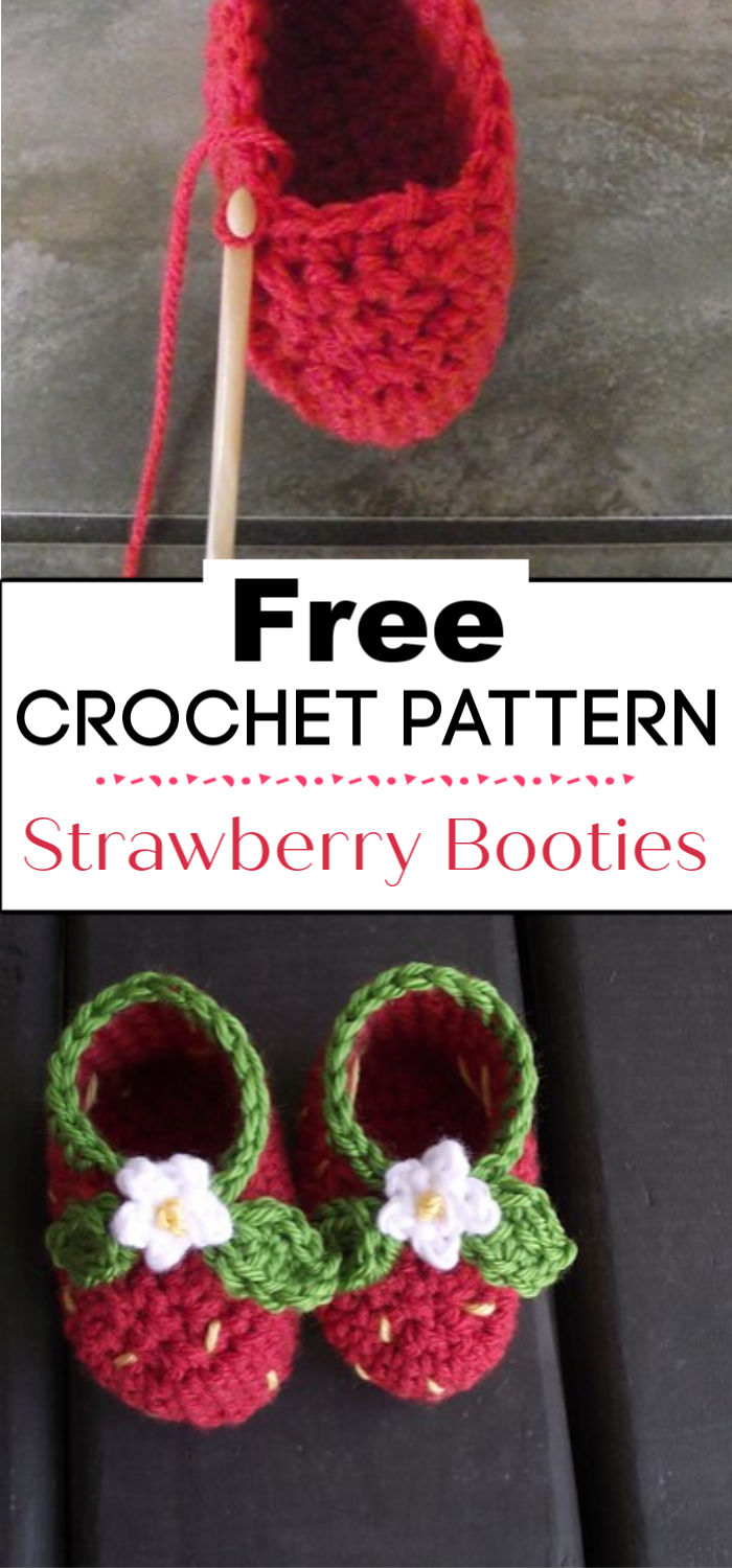 2. Strawberry Booties A Free Pattern To Crochet