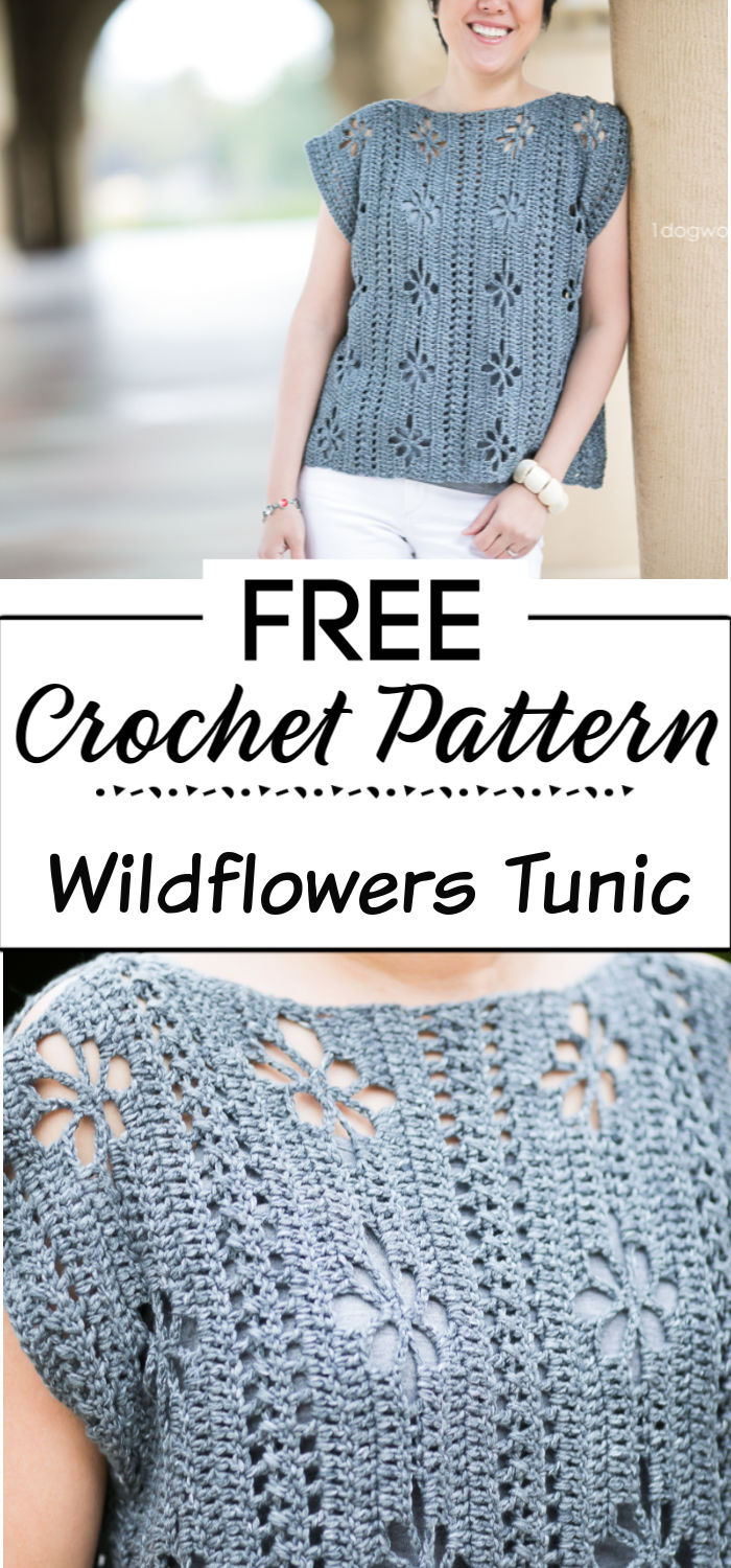 2. Wildflowers Tunic Crochet Pattern