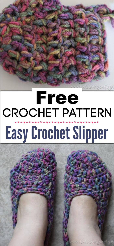 2.Easy Crochet Slipper
