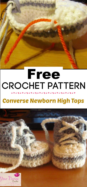 3. Crochet Converse Newborn High Tops