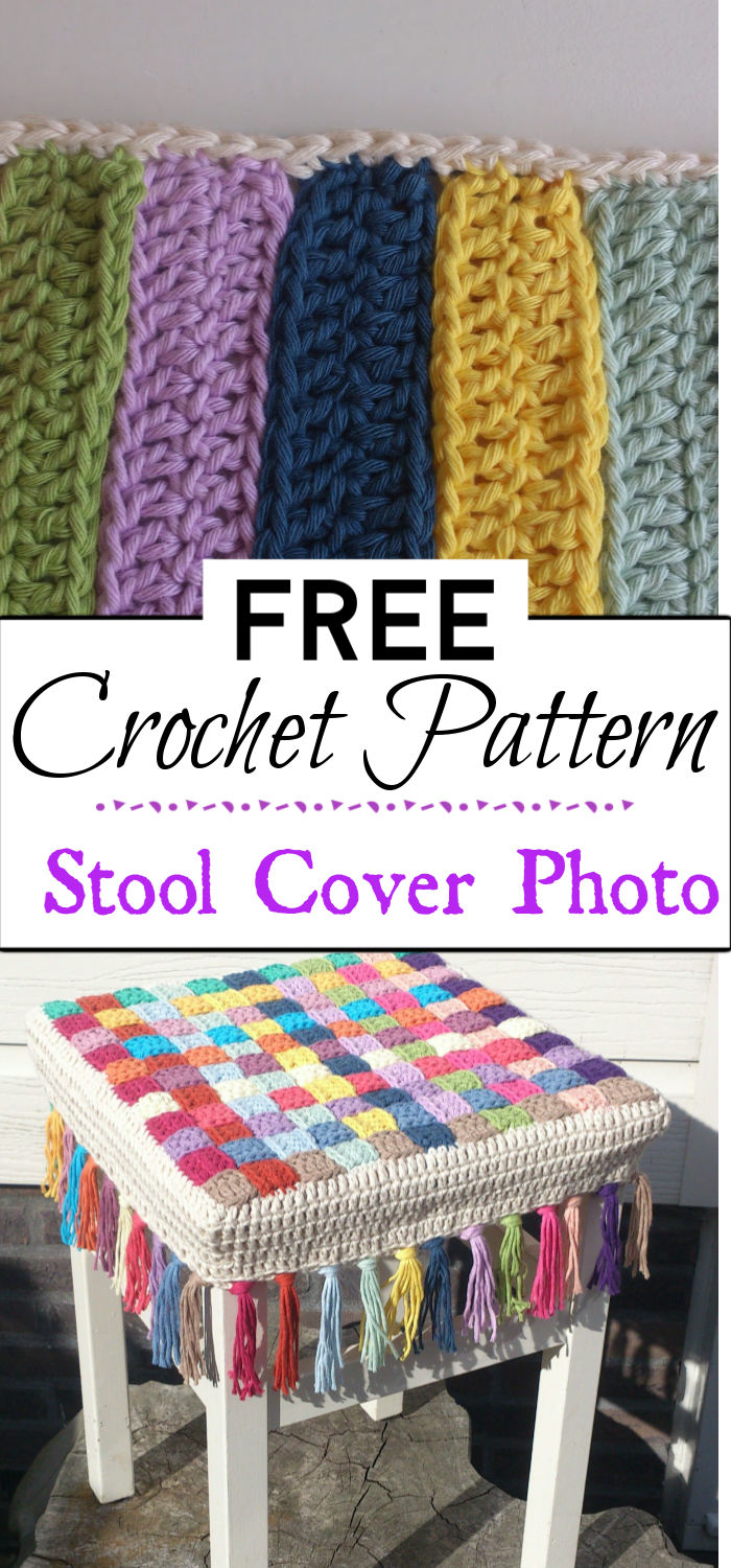 3. Crochet Stool Cover Photo Tutorial