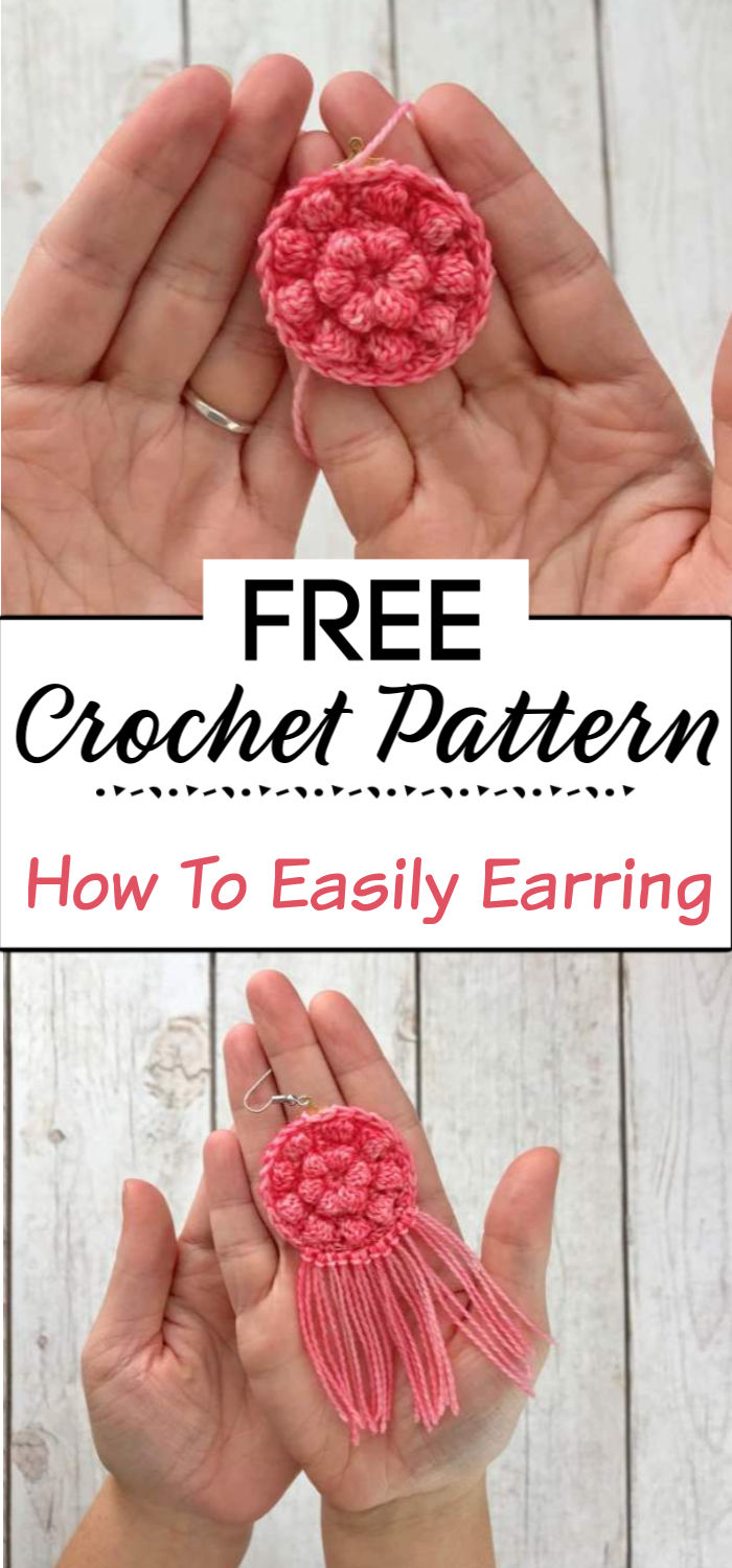 3. How To Easily Crochet Earring