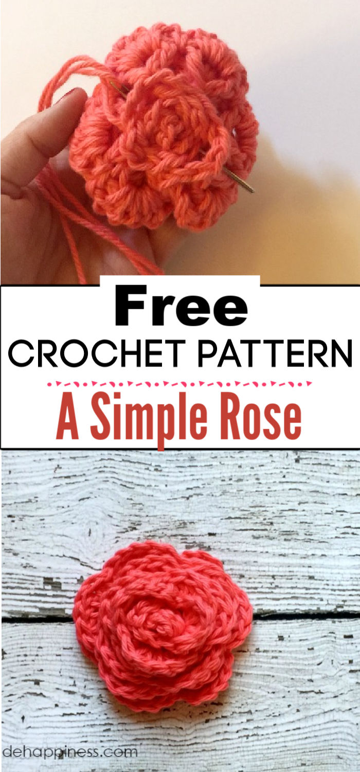 3. How to Crochet a Simple Rose 2