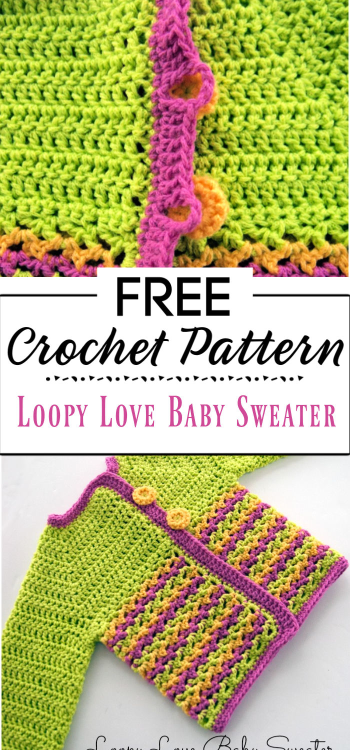 3. Loopy Love Baby Sweater