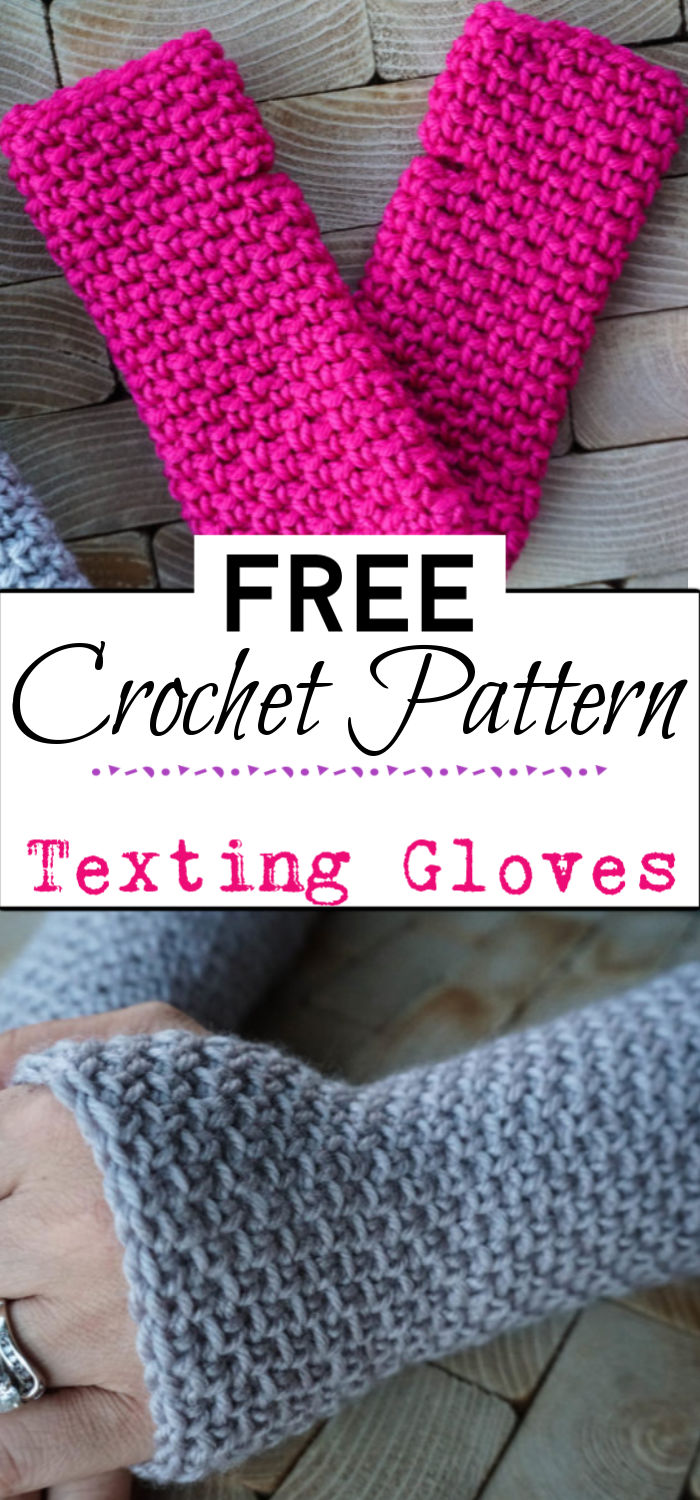 3. Texting Gloves Free Crochet Pattern
