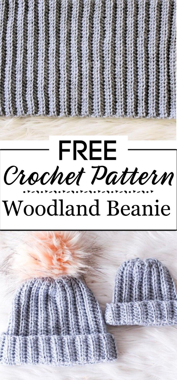 3. Woodland Beanie Free Crochet Pattern