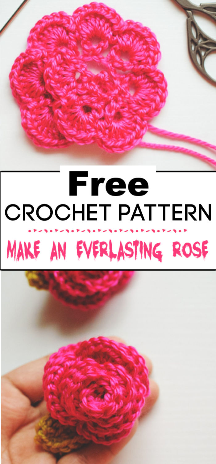 4. Make an Everlasting Rose A Crochet Tutorial 2