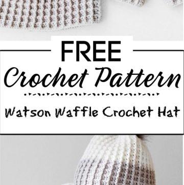 4. Watson Waffle Crochet Hat Free Pattern