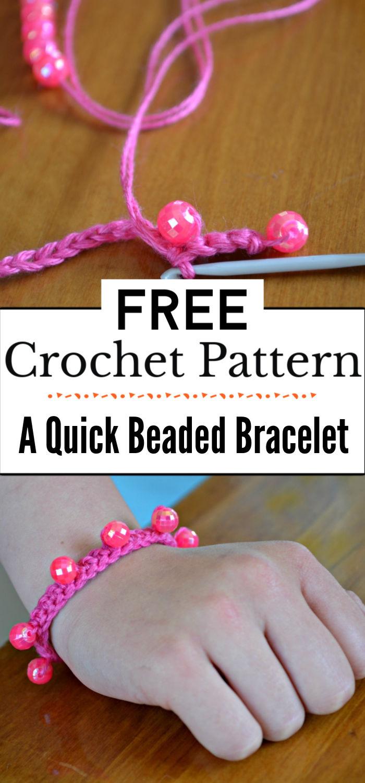 4.A Quick Beaded Crochet Bracelet