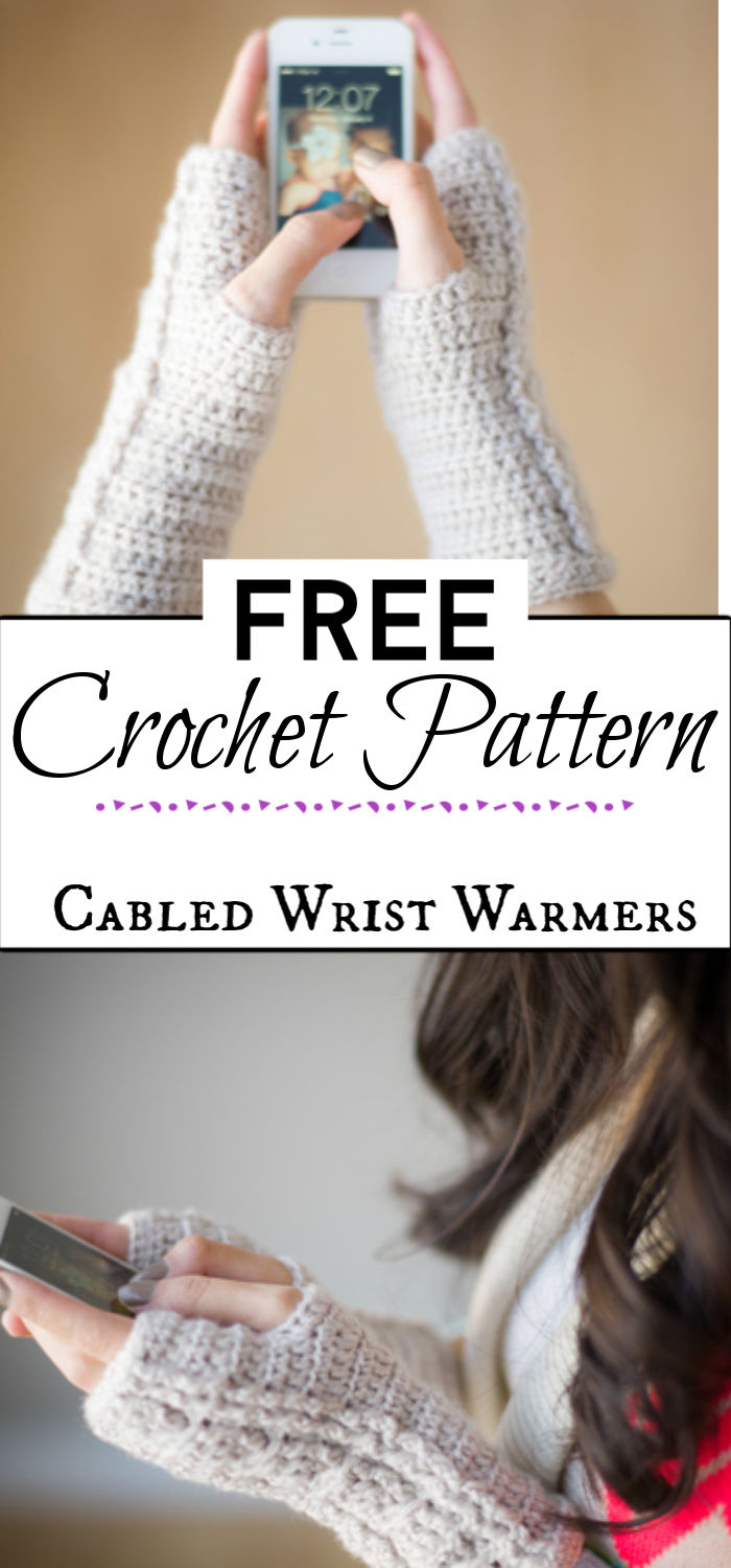 5. Cabled Wrist Warmers