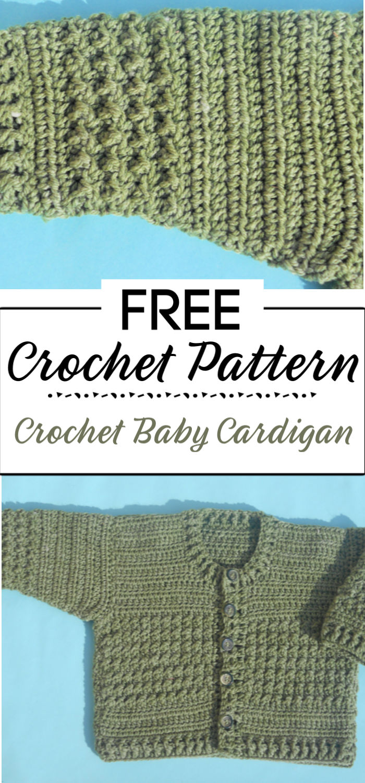 5. Crochet Baby Cardigan