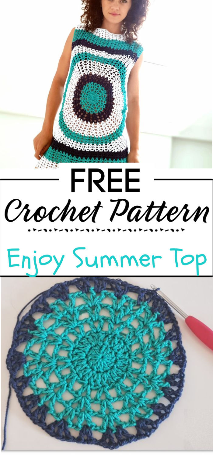 5. Enjoy Summer Top Crochet Pattern