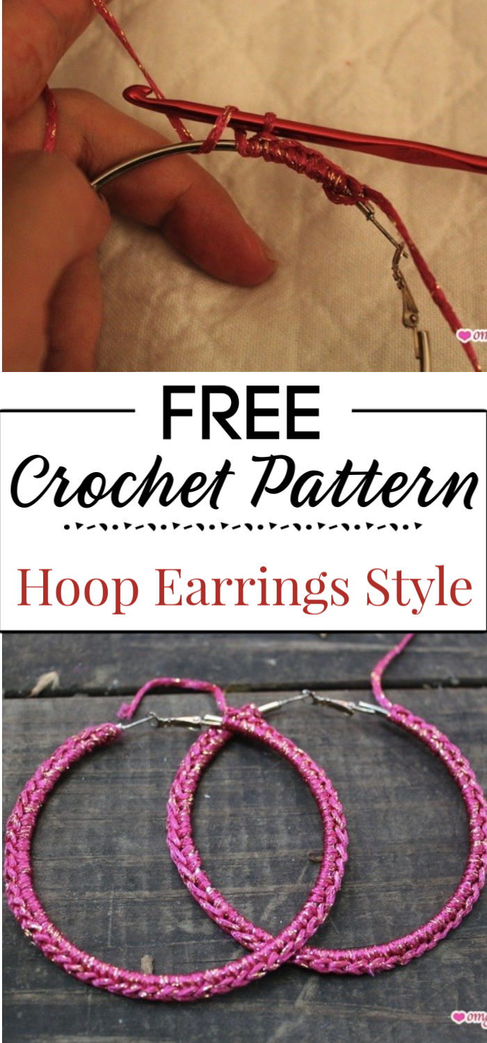 5. Hoop Earrings Crochet Style