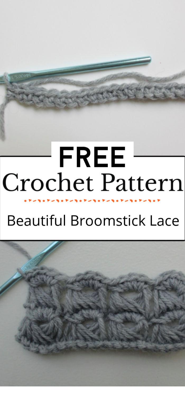 5.Crochet Beautiful Broomstick Lace