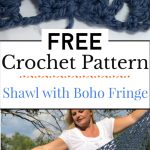 6. Crochet Shawl with Boho Fringe