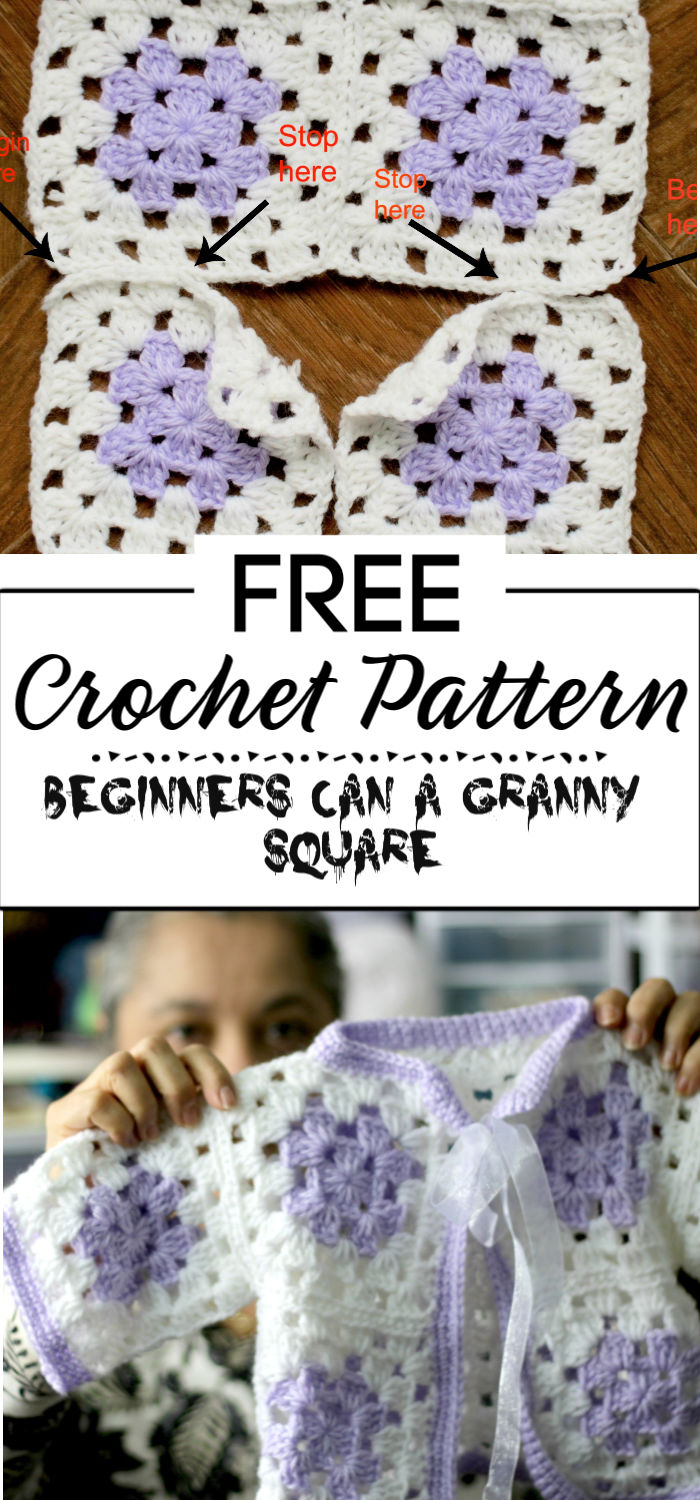 6. Even Beginners Can Crochet a Granny Square Baby Sweater