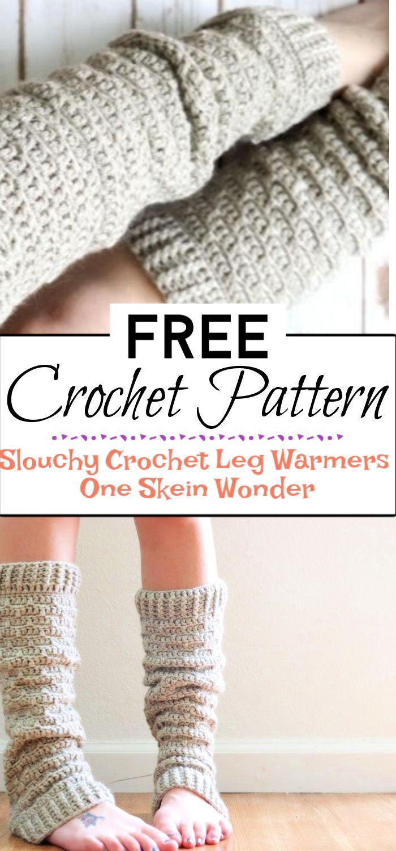 6. Slouchy Crochet Leg Warmers One Skein Wonder