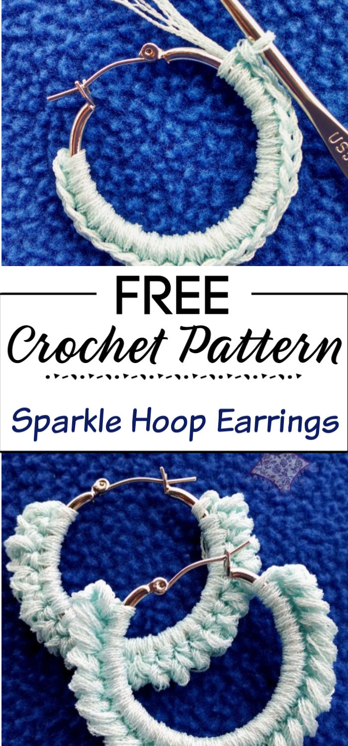 6. Sparkle Hoop Earring Pattern