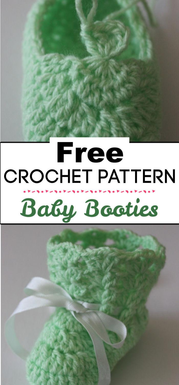 7. Crochet Baby Booties Tutorial
