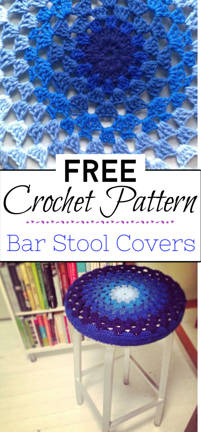 7. Crochet Bar Stool Covers