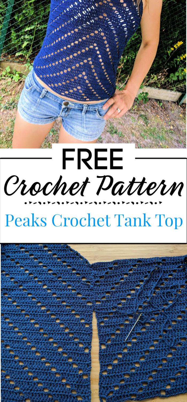 7. Peaks Crochet Tank Top