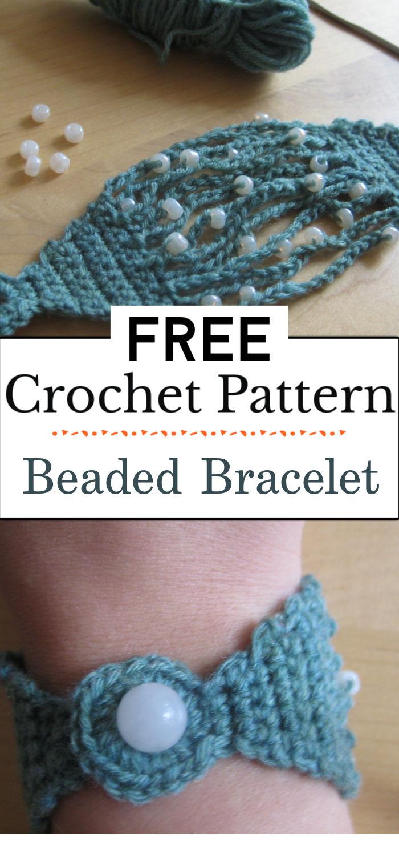 7.Beaded Crochet Bracelet