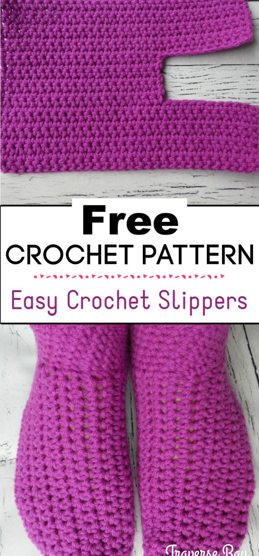 7.Easy Crochet Slippers