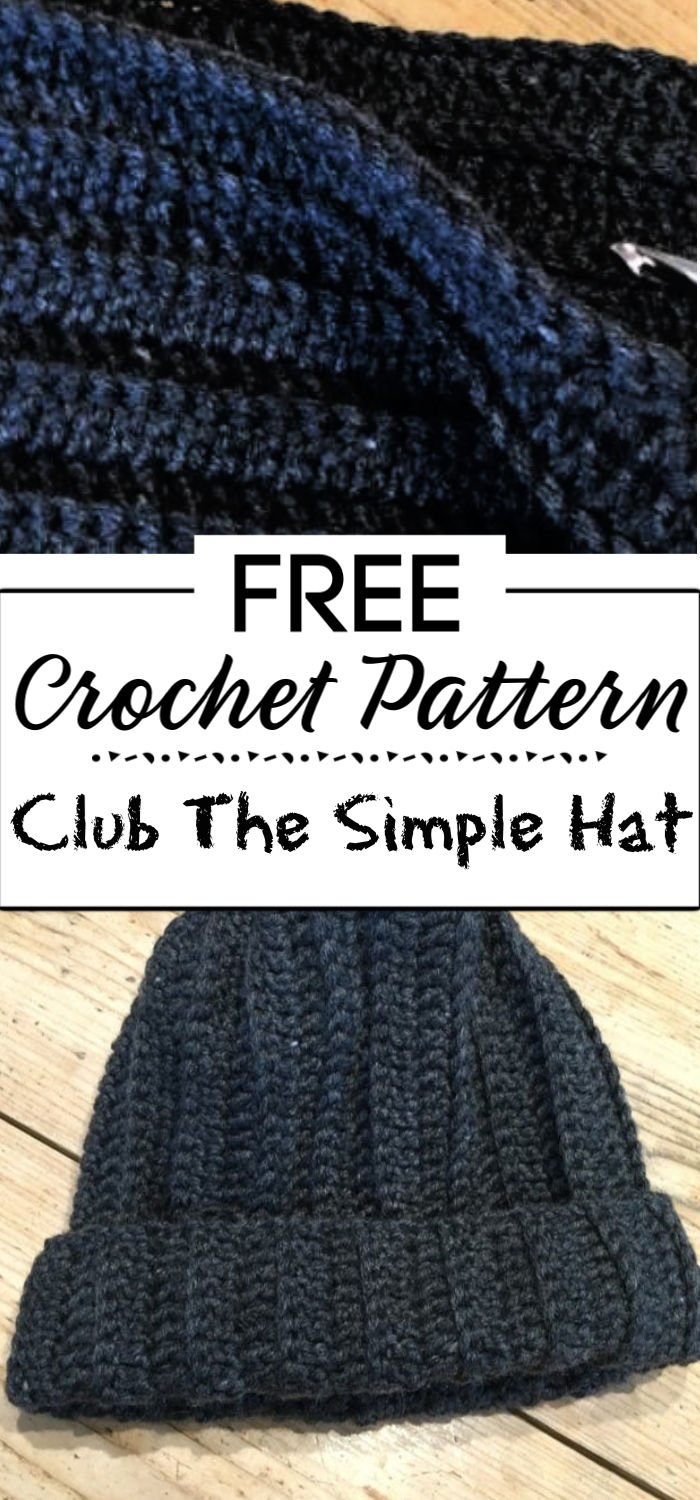 8. Crochet Club The Simple Hat