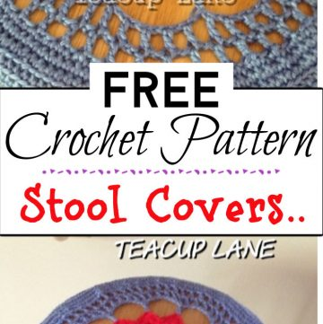 8. Crocheted Stool Covers..