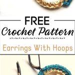 8. Earrings With Crocheted Hoops