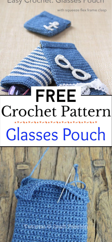 8. Glasses Pouch Crochet Pattern
