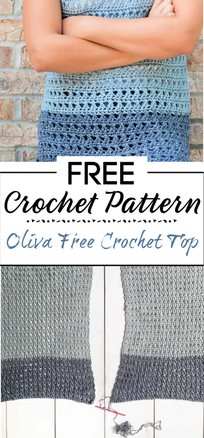 8. Oliva Free Crochet Top Pattern