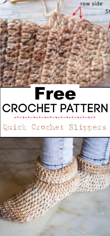 8.Quick Crochet Slippers