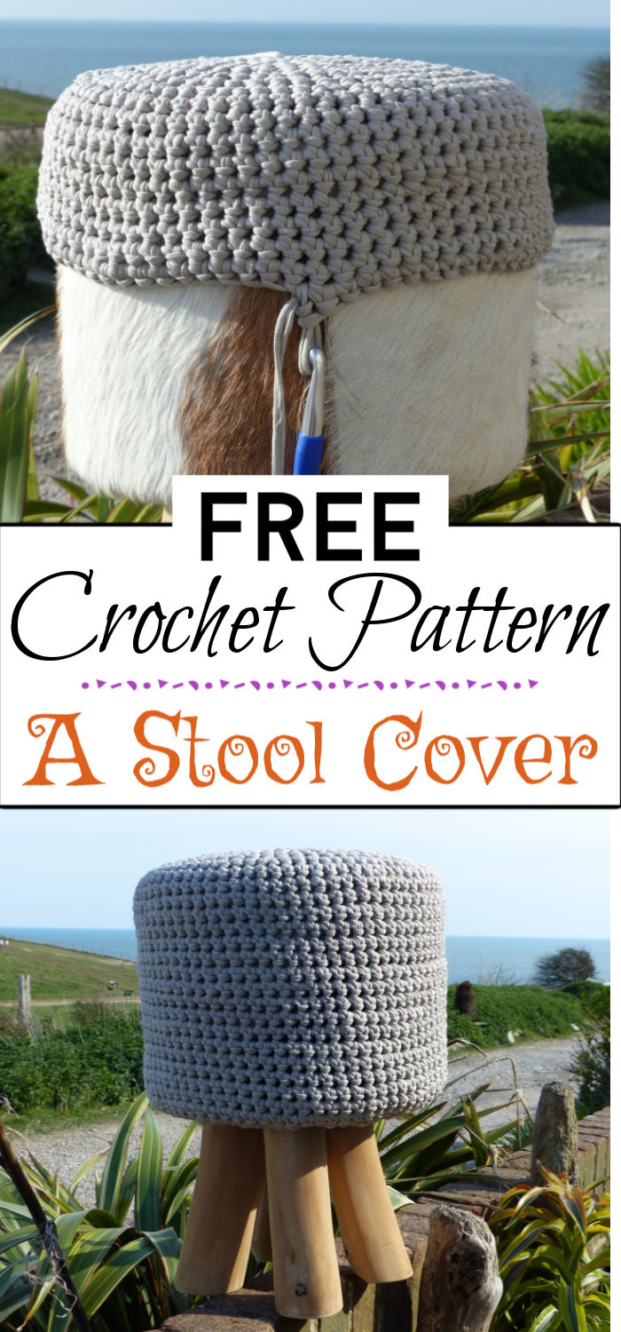 9. A Crochet Stool Cover