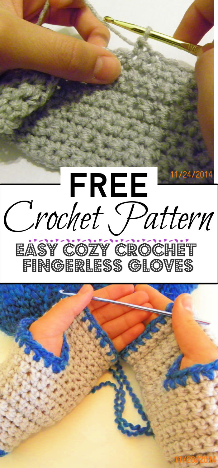 9. Easy Cozy Crochet Fingerless Gloves
