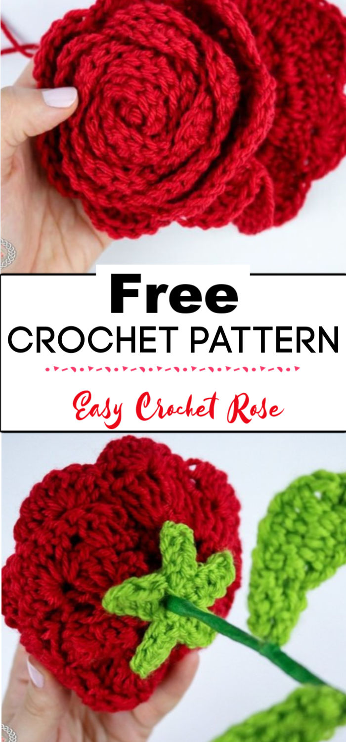 9. Easy Crochet Rose Pattern 1
