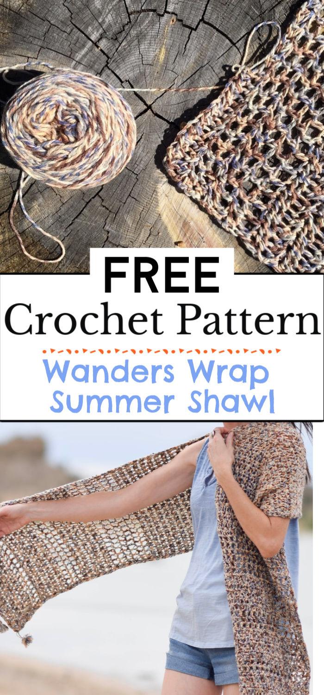 9. Wanders Wrap Summer Shawl