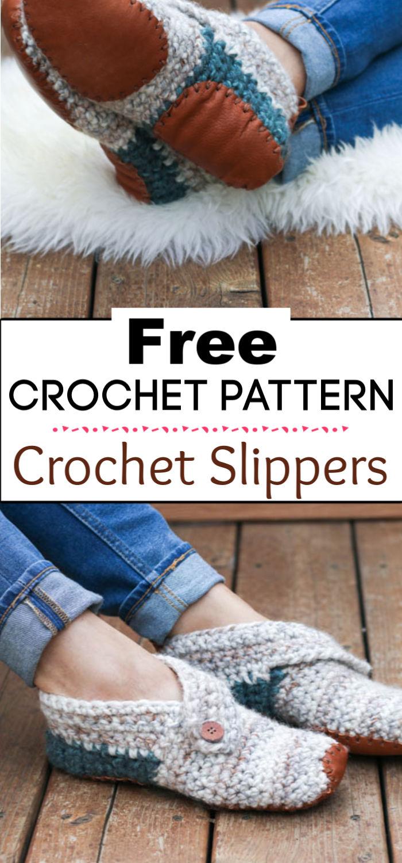 9.Crochet Slippers